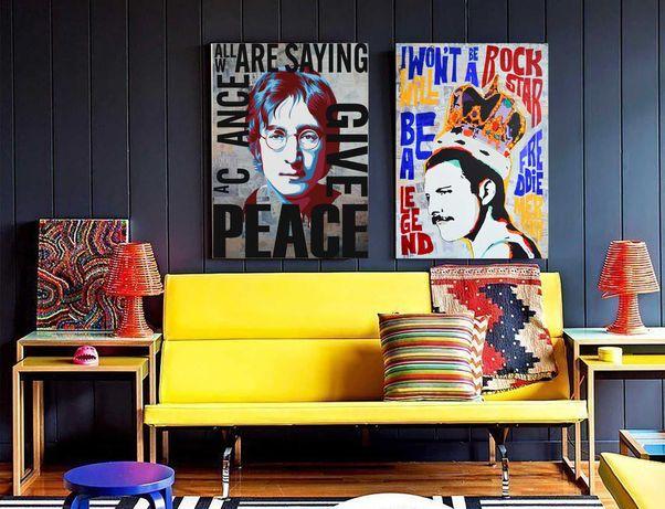 Картины в стиле поп-арт для интерьера
