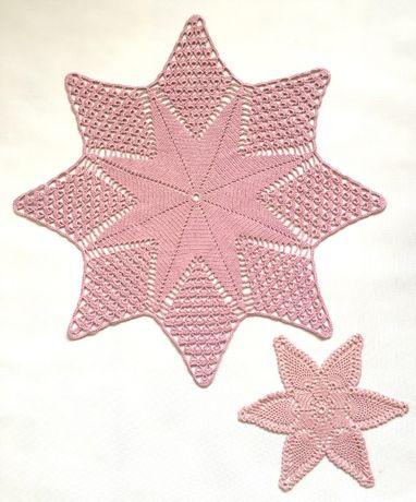 Gwiazda Boże Narodzenie serwetka szydełkowa na szydełku 60cm