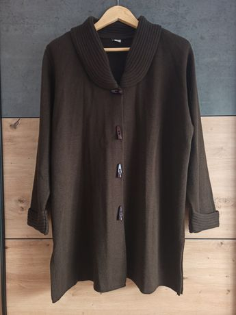 Brązowy czekoladowy sweter kardigan 46/48