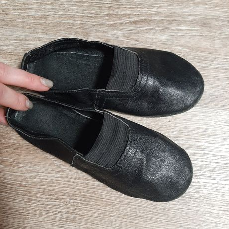 Кожаные Чешки чёрные 20см.
