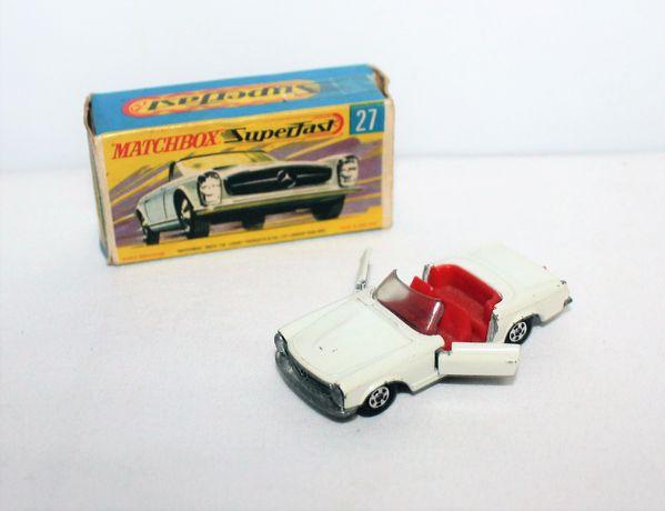 Matchbox Mercedes 230 SL n.27 com caixa, escala 1/64