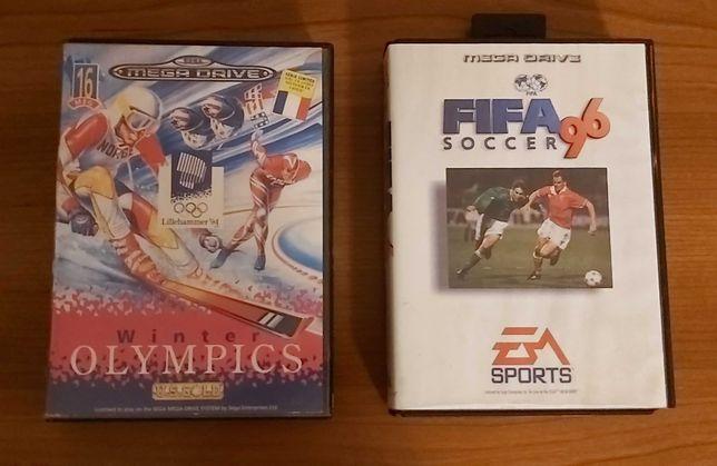 Jogos Mega Drive Fifa 96 e Winter Olympics
