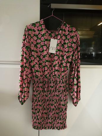 Sukienka Zara kwiaty nowa 36