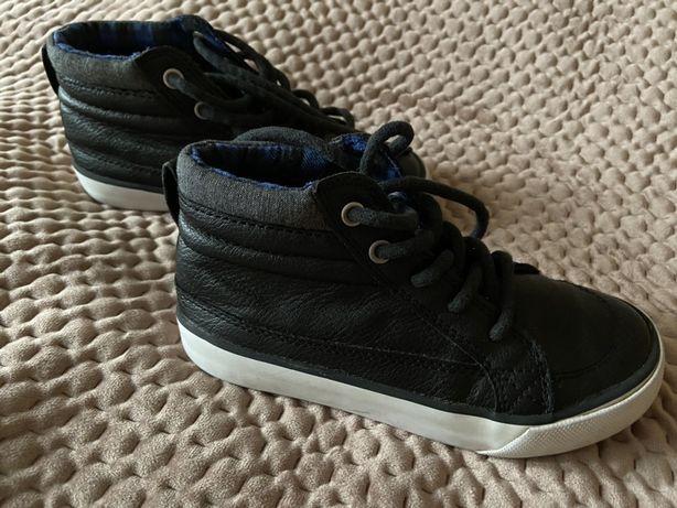 Хайтопы, для мальчика туфли, ботинки на шнурках кожанные next
