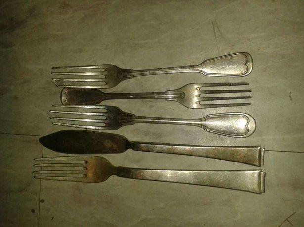 Stare sztućce srebrne / posrebrzane widelec nóż srebro na sztuki