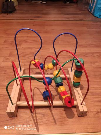 Zabawka drewniana przekładanka pętla