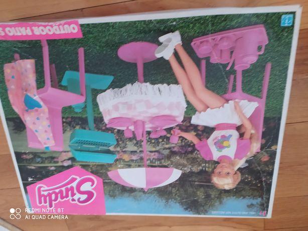 Mebelki dla Barbie ogrodowe zestaw Sindy