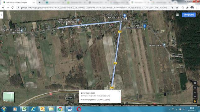 Wynajmę/wydzierżawię działkę blisko Bełchatowa i DK74