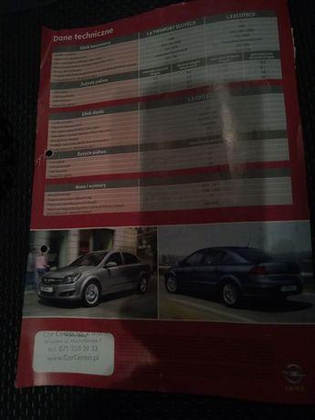 Prospekt informacyjny Opel