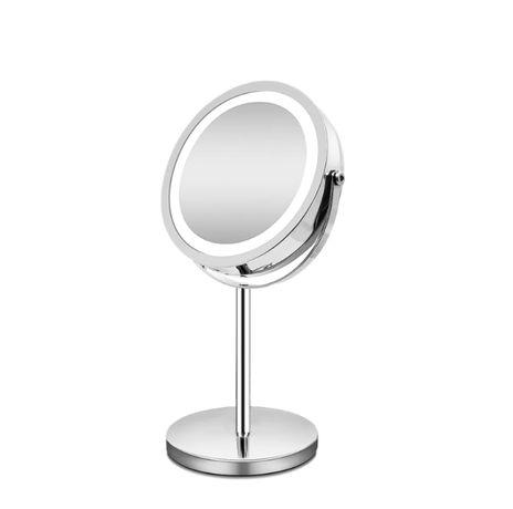 Podświetlane lustro led do makijażu zoom 10x