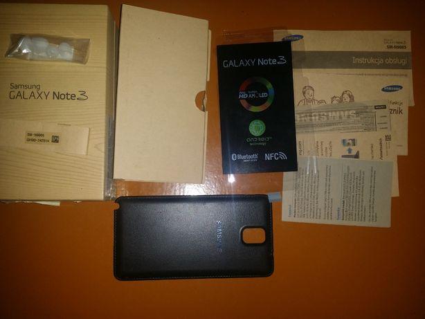 Samsung Note 3 pudełko + klapka tył