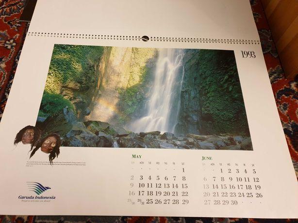 Kalendarz Garuda Indonezja, obrazki