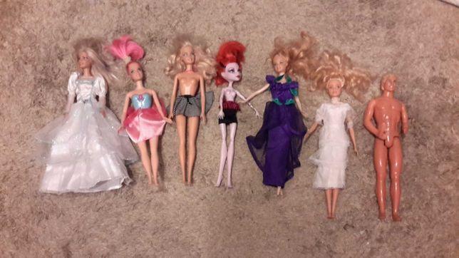 7 bonecas barbie sendo 1 ken