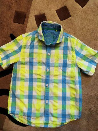 Рубашка шведка для мальчика с коротким рукавом, next