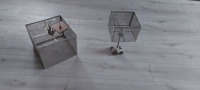 Lampa wiszaca i lampka na biurko
