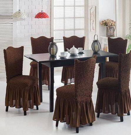 шикарные наборы чехлов на стулья из 6шт-распродажа