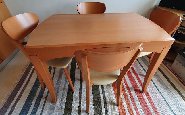 Mesa de Cozinha Extensível com 4 cadeiras