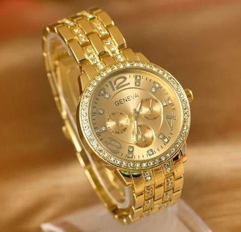 POZŁACANY zegarek Geneva
