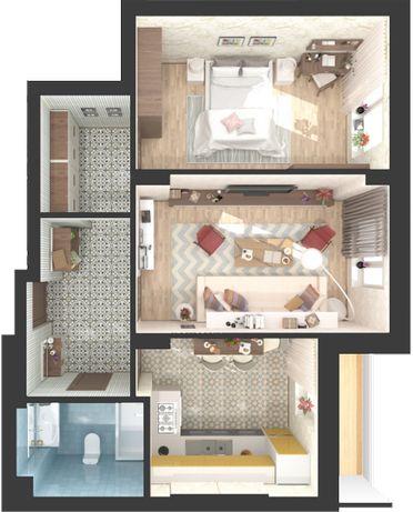 2-х комнатная квартира в сданном доме