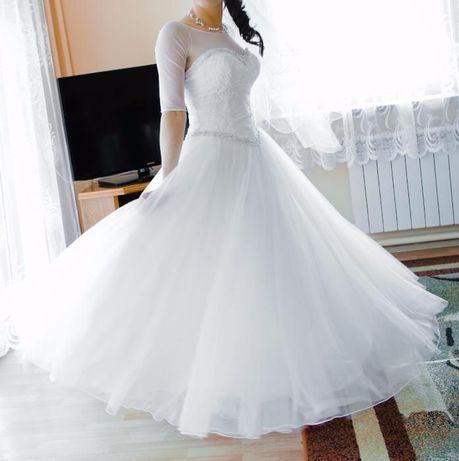 Śliczna suknia ślubna. STAN IDEALNY! r. 36/38