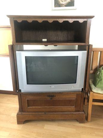 Móvel madeira maciça para TV