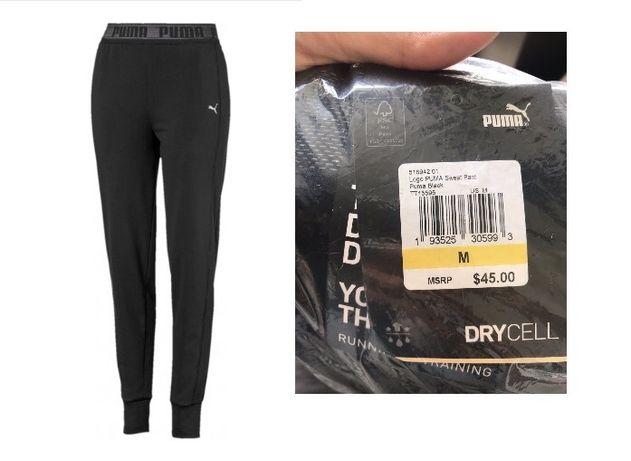 Спортивные штаны женские Puma Logo Sweat Pant 518942 01  Black
