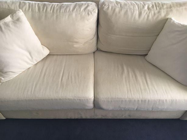 Sofá branco + 2 almofadas