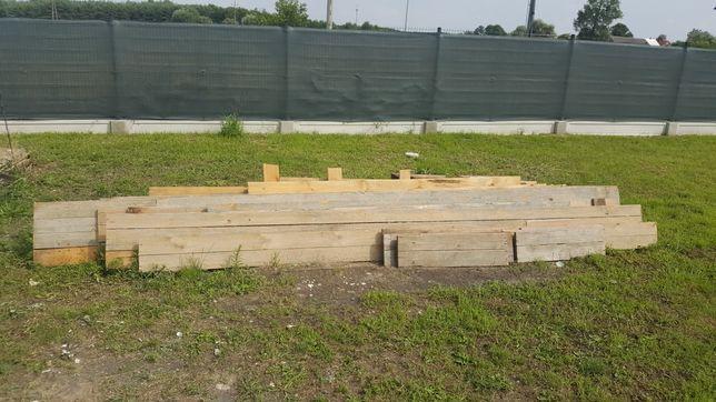 szalunki po budowie 24 cm 5 mx7 m z podciągiem deski drewno
