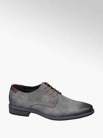 Eleganckie buty męskie,szare! Nowe!! Mega :)