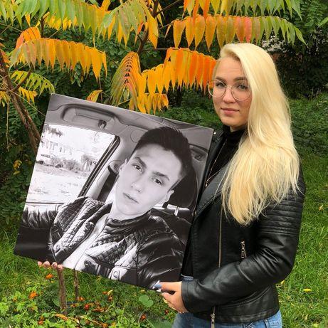 Картина (фото) на холсте.Портрет на холсте.Печать на холсте.подарок НГ
