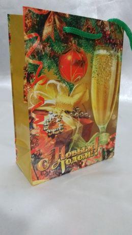 Пакет подарочный ламинированный Новогодний