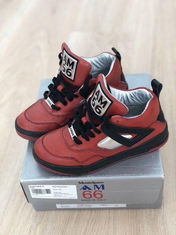 Кожаные итальянские кроссовки р.34 бренд AM66