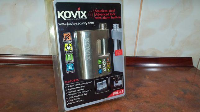 Мотозамок навесной с сигнализацией Kovix KBL12