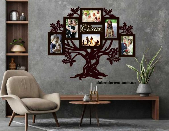 Родовое дерево / Родине дерево/ фоторамка / Родовое дерево/ коллаж