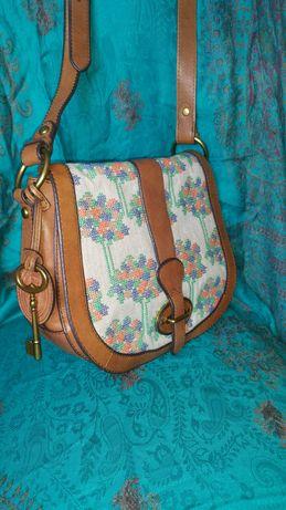 FOSSIL. Элегантная женская сумочка. Кожа! Оригинал!