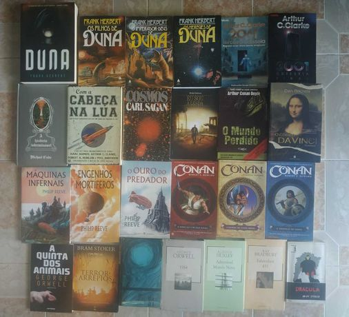 Vários livros Ficção científica e fantástico adaptados ao Cinema e TV