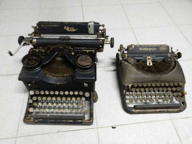 Máquinas de escrever vintage cerca 1930 - Remington & Royal