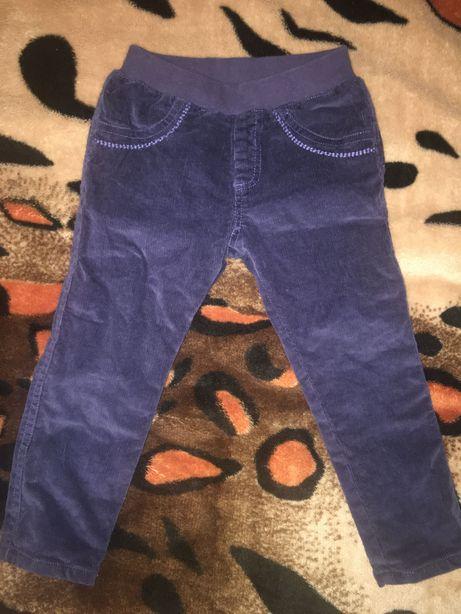 Теплые штанишки Mothercare на 2-3 годика