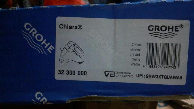 Смеситель Chiara 32303000, новый для умывальника с донным клапаном.