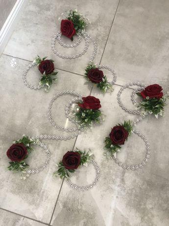 Zestaw dekoracje ślubne na auto