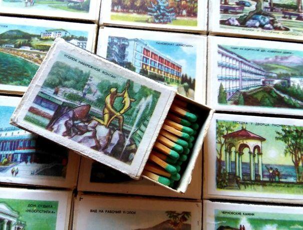 Набор спичек Алушта в коробке. 1977 г. СССР