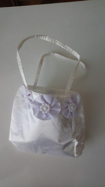 okazja Biała torebka dla dziewczynki zapinana na rzep