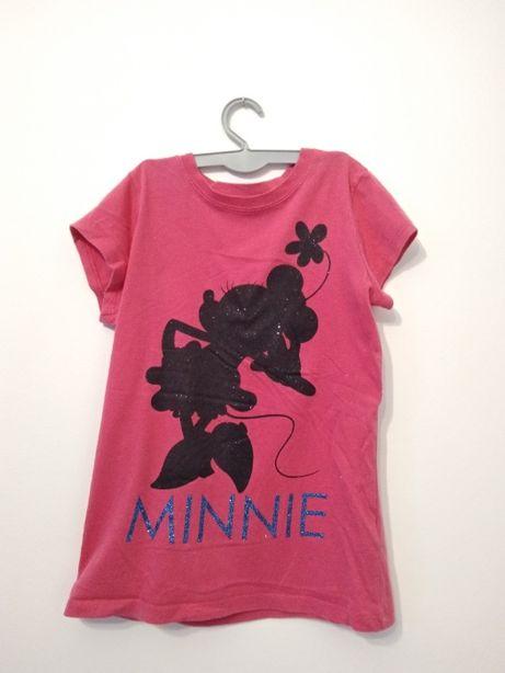 Różowy t-shirt z myszką miki
