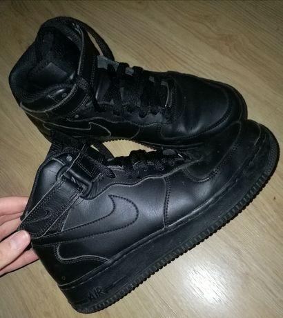 Damskie, wysokie, czarne Nike Air Force 1