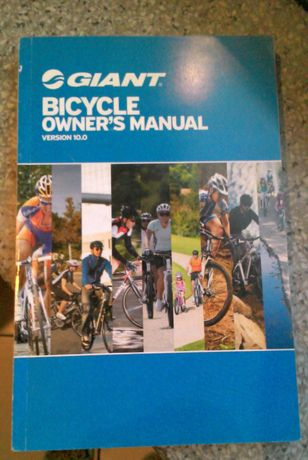 Giant Bicycle owner's manual wersia 10.0