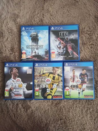 PS4: Star Wars Jedi Upadły Zakon, Star Wars Battlefront, FIFA 16,17,18