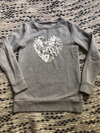 Zara Guess bluza 7-8 lat dziewczęca serce