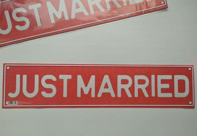 Свадебные наклейки на номера машины