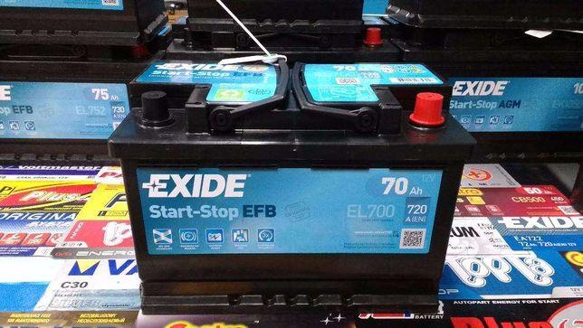 Akumulator Exide EFB Start-Stop EL700 12V 70Ah 720A P+ Kraków CL700