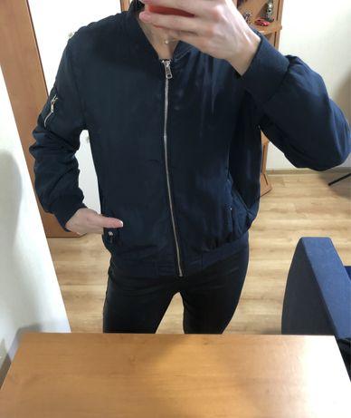Утепленный Синий бомбер,куртка  atmosfer М